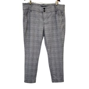 Torrid Houndstooth Plaid Cropped Ankle Pant 16R